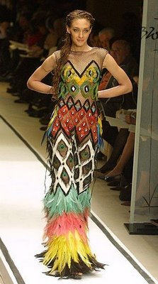 Gautier Wild Feather Dress
